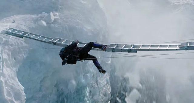 Der Zuschauer wird knapp an den Herzinfarkt geführt: Filmproduktionen wie «Everest» helfen mit, damit die Klischees des Bergsteigens weiterleben. (Foto: 3dfilmfans.com)