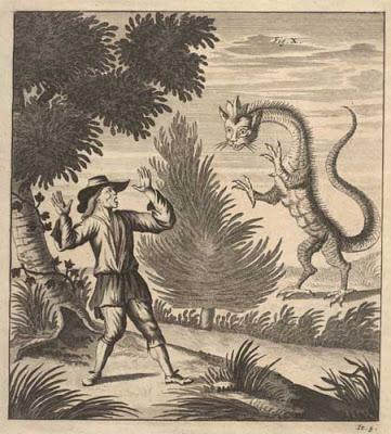 Drachen «existirten» in den Schweizer Bergen bis ins 18. Jahrhundert. Der Zürcher Gelehrte Johann Jakob Scheuchzer hat sie in seiner «Naturgeschichte des Schweitzer Landes» abgebildet. «Sie mögen eine besondere Art der Tiere ausmachen, oder, wie viele wollen, Missgeburten sein; denn man siehet, dass nicht alle von einerlei Art sind.» Nach ihm wurde später das Scheuchzerhorn im Berner Oberland genannt.