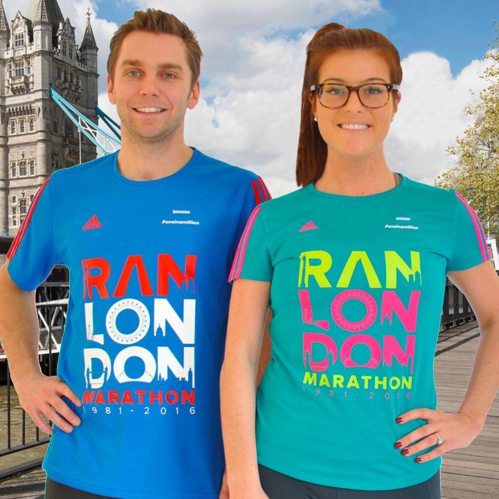 «Ran London Marathon»: Das offizielle Finisher-Shirt ist manchen eine Nummer zu gross. Foto: PD