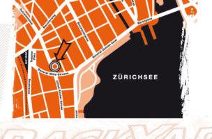Das Gute liegt so nah: Lageplan des Fachhändlers Backyard in Zürich.