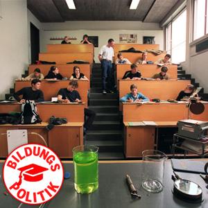 Der Verdrängungskampf am Gymnasium wird härter: Physikstunde am Rämibühl in Zürich. Foto: Keystone