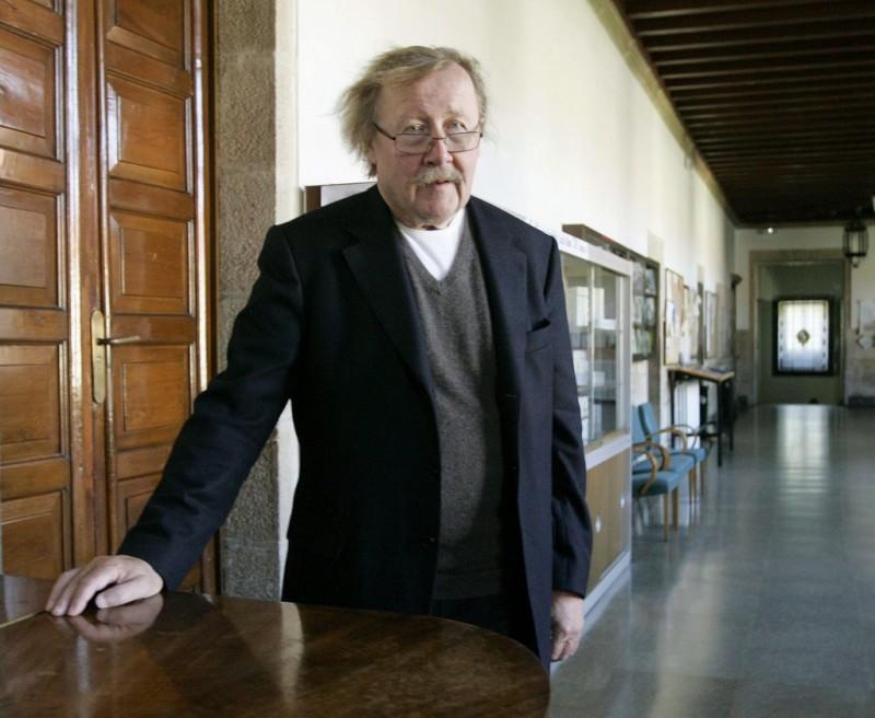 Peter Sloterdijk vergisst 3000 Jahre Geistesgeschichte im Gepäck. Übrig bleibt ein alter Mann mit Angst. Foto: Xoan Rey (Keystone, EPA)