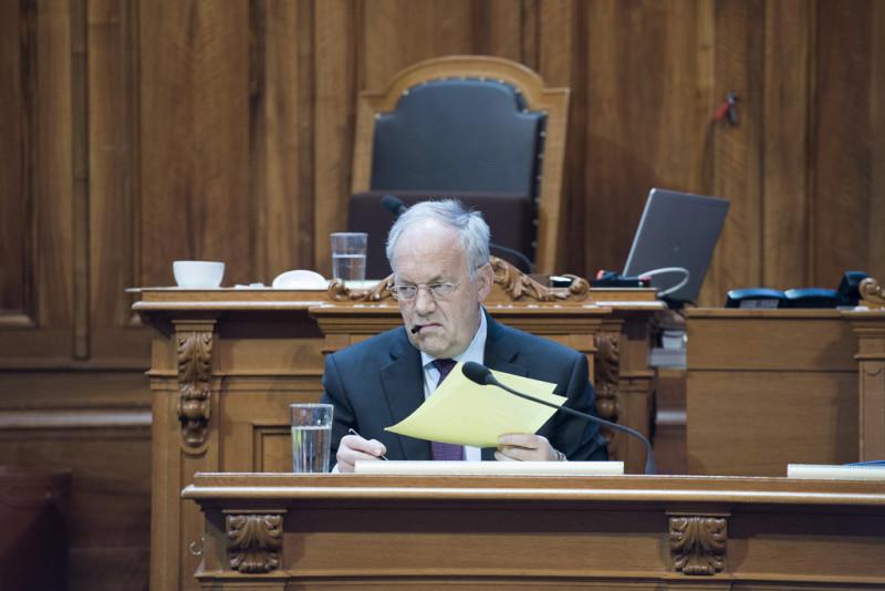 Bundesratspräsident Johann Schneider-Ammann will eine stärkere Selektion auf Maturastufe. Foto: Lukas Lehmann (Keystone)