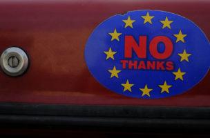 «EU? Nein danke!» Die Briten verabschieden sich, die Schweiz kommt ins Rudern. Foto: Phil Noble (Reuters)