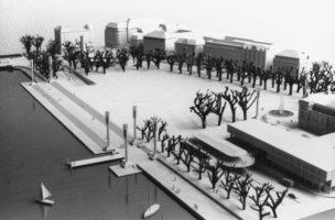 Venedig lässt grüssen: Willi Walters Modell eines verkehrsfreien Sechseläutenplatzes aus dem Jahre 1988. Foto: Keystone
