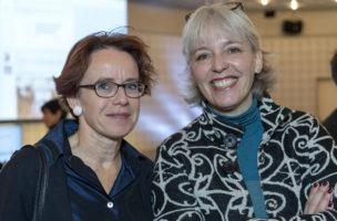 Vorbild für eine faire Unternehmenssteuerreform: Basels Finanzdirektorin Eva Herzog (SP, l.) mit Brigitte Hollinger, Praesidentin der SP Basel-Stadt. Foto: Georgios Kefalas (Keystone)