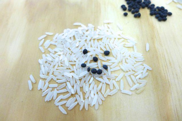Hallo, Reis! (Die schwarzen sind Beluga-Linsen)