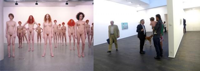 Performance von Vanessa Beecroft (2000), die von Dolf Schnebli umgebauten  Räume