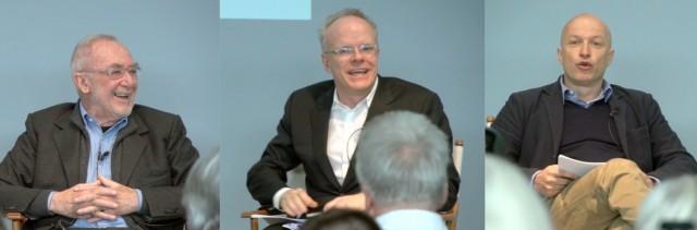 Pressekonferenz der Superlative: Gerhard Richter, Hans Ulrich Obrist, Sam Keller