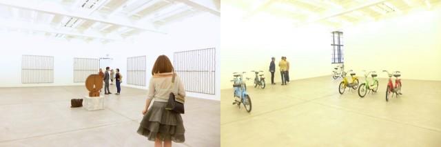 Galerie Eva Presenhuber: Blicke in die Ausstellung von Valentin Carron