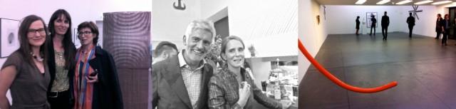 Künstlerin Nika Spalinger mit Freundinnen, Designer Alfredo Häberli mit Gattin, die «Angeschlagene Moderne»
