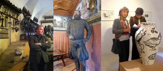 «Gaudi» Graf Trapp von Matsch, einer seiner Vorfahren, Besucherinnen