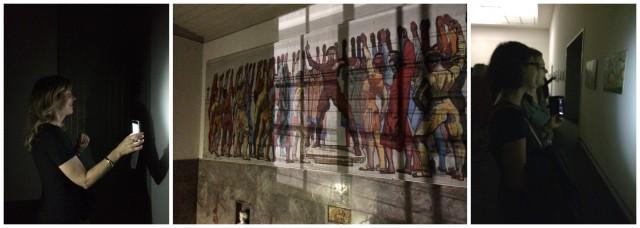 Bildbetrachtung im Dunkeln, Hodlers Mannen mit Gitter-Schattenwurf