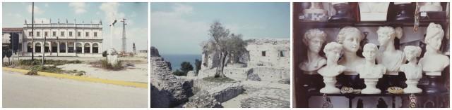 Luigi Ghirri:  Veneto (Serie: Paesaggio Italiano), 1985-89, Sirmione (Serie: Paesaggio Italiano), 1989,  Roma (Serie: Italia ailati, Topographie-Iconographie), 1977 (courtesy Mai 36)