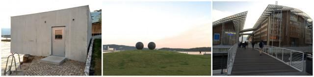 Fischli/Weiss-Häuschen im Museumspark, Skulptur von Louise Bourgeois, Renzo Pianos Astrup Fearnley Museumskomplex