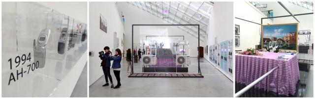 Simon Denny grosse Installation «New Management» zur Corporate-Kultur, hier der koreanischen Firma Samsung