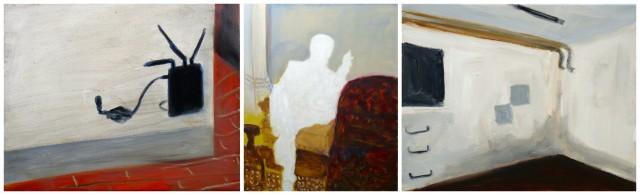 Thomas Müllenbach: «Döschen», 2013; «Freud», 2011; ««Keller», 2012