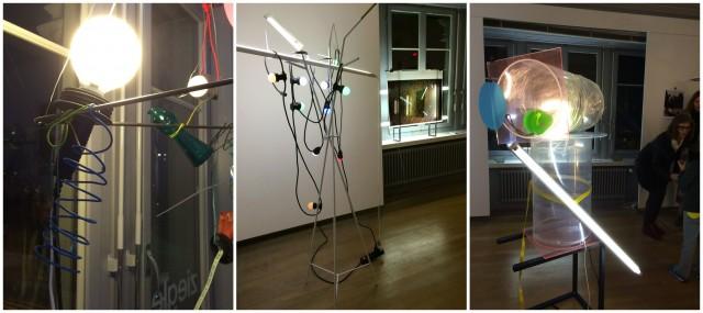 Ruedi Bechtlers Werke in der Galerieräumen: Ohne Titel 2013, Raumansicht, Rocket 2014