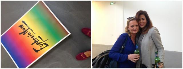 Euphoria... Ist die gut? euphorische Besucherinnen Anina Michel von der Basler Galerie Idea Fixa mit Kollegin Kisshy
