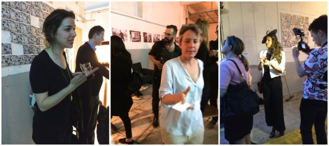 Die Filmemacherin Lidija Burcak (links), Sollbruchstelle-Initiantin Nikkol Rot (Mitte), und der Beweis, dass Glamour keine Frage der Adresse ist