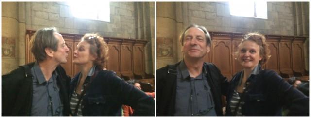 Die Vorführung des Seminarthemas: «The kiss» by Anka Schmid & Peter Radelfinger