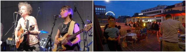 Martin Creed and his band: Der Künstler gibt sich die Ehre an der Löwenbräu-Party, Stimmung auf der Terrasse