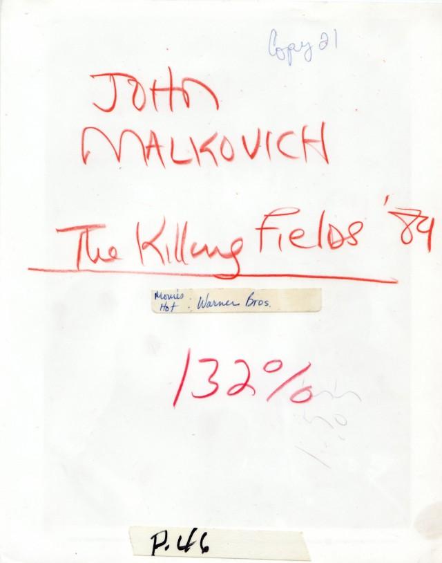 «The Killing Fields» - es muss in einer Drehpause entstanden sein