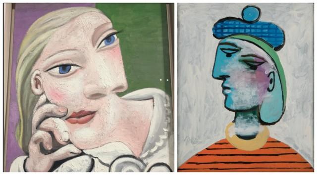 """Porträts von Marie-Thérèse Walther: «Marie Thérèse accoudée"""" von 1939 und «Marie-Thérèse au béret bleu» von 1937 © Succession Picasso 2015 / Photo Béatrice Hatala"""
