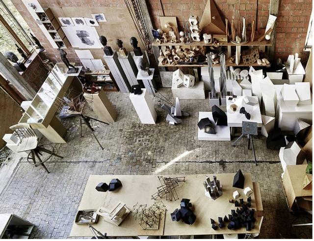 Atelier Hächler in Lenzburg, ein Blick von oben