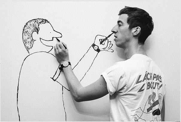 Jean Jullien, der Zeichner des «Peace for Paris»