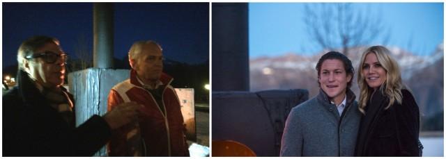 Bob Colacello und This Brunner, Vito Schnabel und Heidi Klum Foto: Hess, FSP/Cattaneo