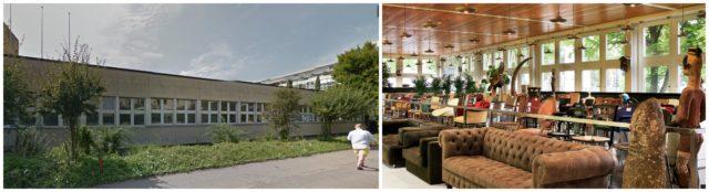Die postindustriellen Ränder von Zürich: die ehemalige UBS-Kantine an der Baslerstrasse, stimmungsvoll für Kunst adaptiert
