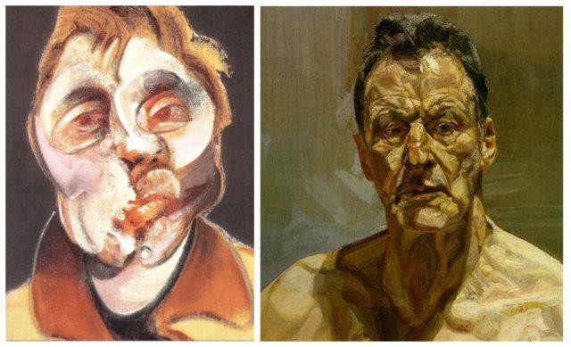 Aufschrei der Körper: Francis Bacon und Lucian Freud in den jeweiligen Selbstporträts.