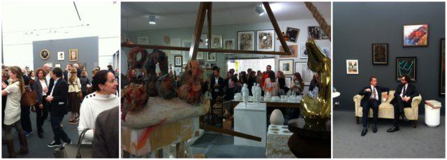 Jäger und Sammler an der Frieze Masters: Am Stand von Hauser & wirth unter einem Arrangement von Werken von Francis Picabia bei Hauser & Wirth & Moretti