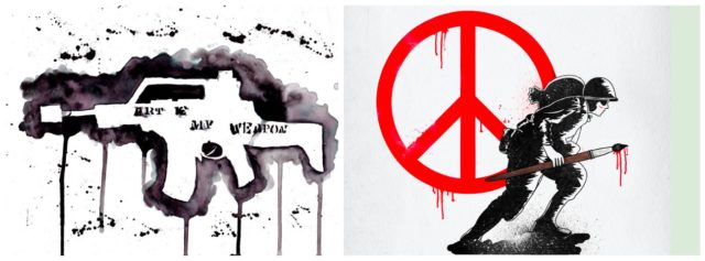 Aktivistische Kunst und Street Art mischen sich in die Politik ein.