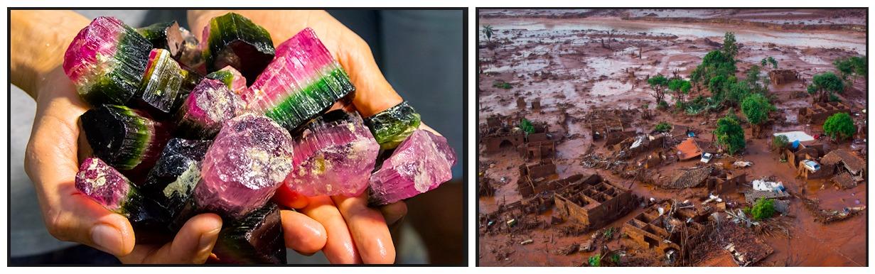 Gieriges Geschäft in Minas Gerais: Geförderte Turmaline, zerstörte Umwelt. Fotos: GIA