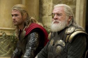 Der Thronfolger und sein König: Thor und Odin.