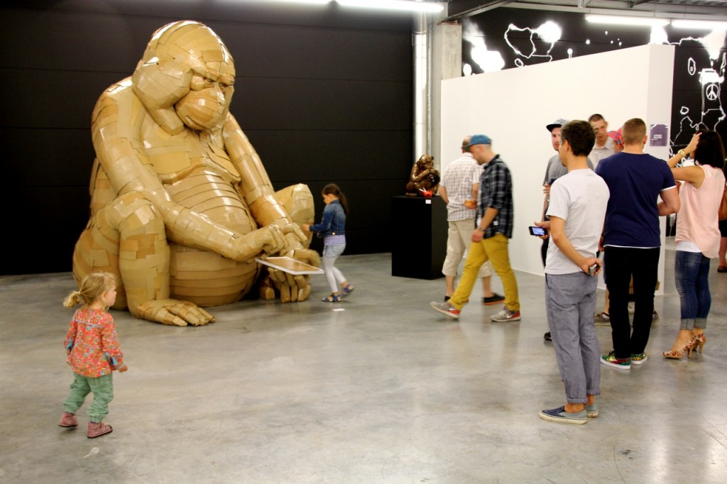 Kanadische Kartonkunst. Vier Wochen lang hat Laurence Vallières an diesem Affen gearbeitet – ohne Vorlage.
