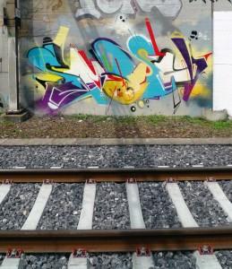 Ausufernd in alle Richtungen: Ein typisches Smash137-Graffiti.