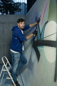 Adrian Falkner aka Smash137 im Novotel Basel. Foto: Lucian Hunziker.