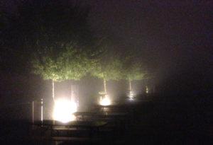 Nebel wie in einem Edgar-Wallace-Film.