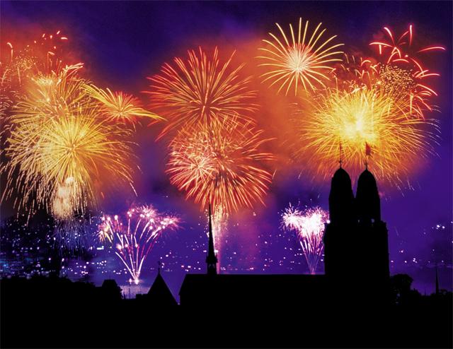 Zürich rutscht ins neue Jahr.
