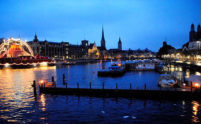 Trotz Widrigkeiten die beste Stadt der Welt: Zürich bei Sonnenaufgang.