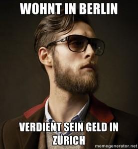 Man kann auch gut in Berlin leben, solange man noch etwas Geld in Zürich verdient.