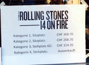 Noch Tickets für über 300 Franken.