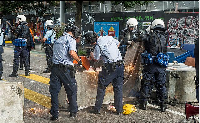 Der einzige Grund für die Aktion war der polizeiliche Mehraufwand.