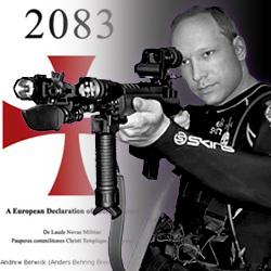 Paralellen sind nicht zu leugnen. Breivik posiert.
