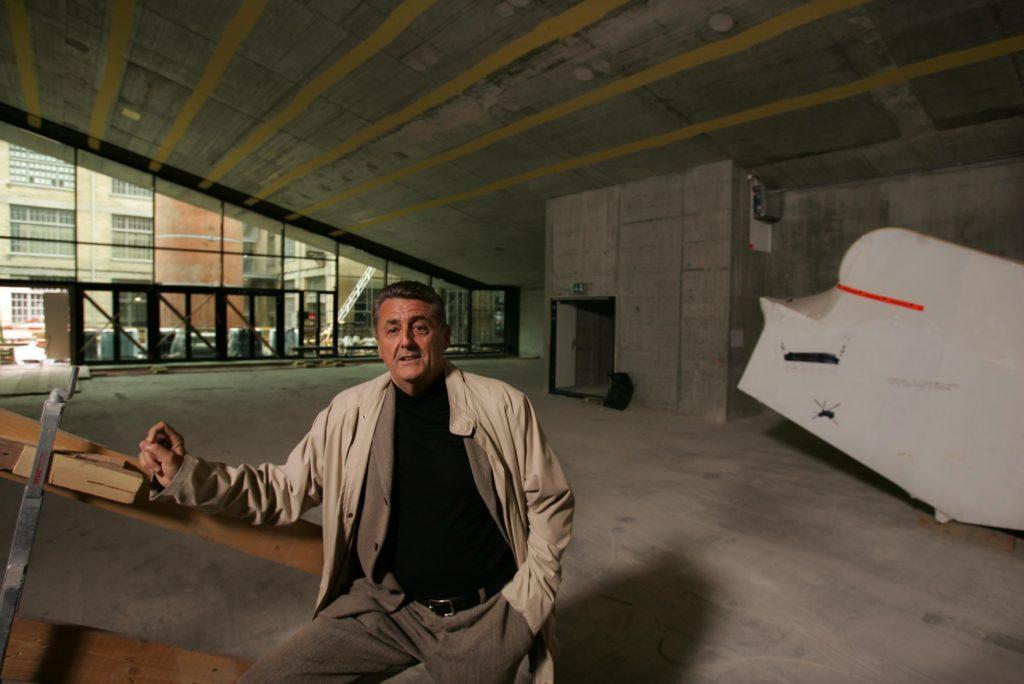 Edi Stöckli, Mitgründer der Arena Cinemas AG, zur Eröffnung des ersten 4-DX-Kinos im Sihlcity in Zürich. (Foto: Beat Marti)