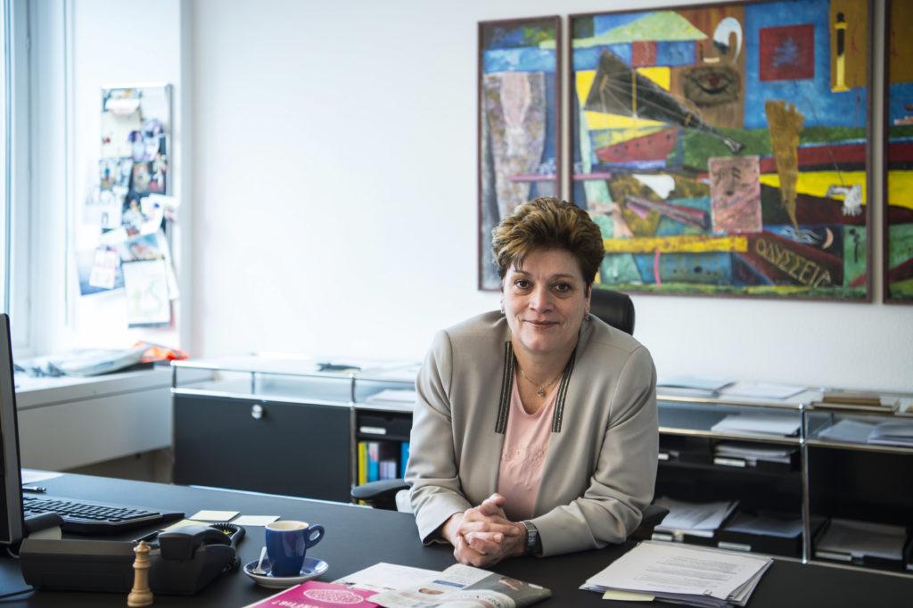 Grössere Schulklassen sind für diese Frau ein No-Go: CVP-Bildungsdirektorin Silvia Steiner trat diese Woche am Tag der Bildung auf. Thema: Sparen, sparen, sparen. (Foto: Reto Oeschger)