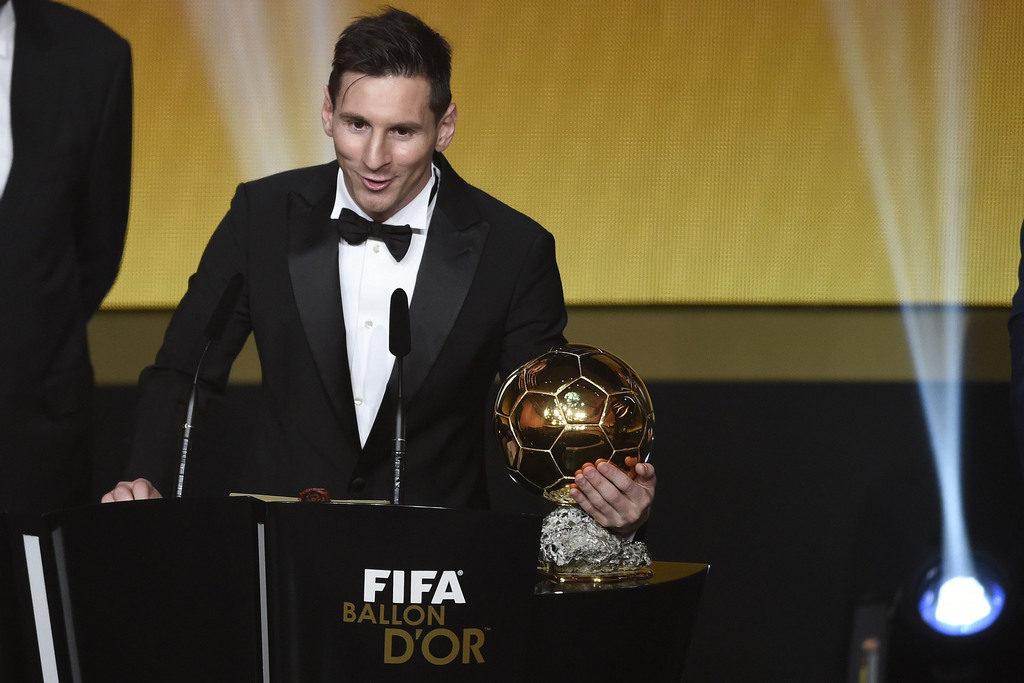 Lionel Messi wird in Zürich zum fünften Mal Weltfussballer. (Foto: Valeriano Di Domenico/Keystone)